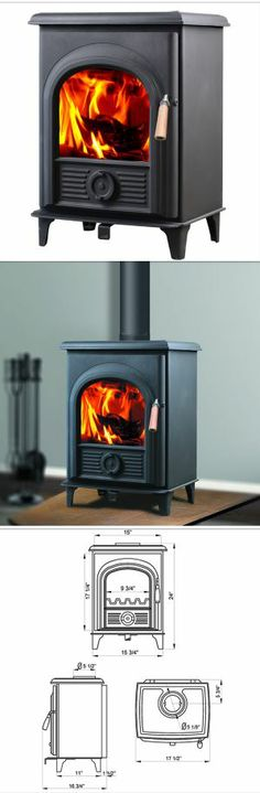 Horse Flame Shetland HF-905 Wood Burning Stove Features: Heating Capacity: 800 sq. ft. Heat Output: 21,000 BTUs Efficiency: 85%