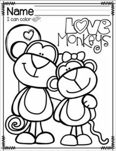 Cool Coloring Pages, Coloring Pages For Kids, Coloring Books, Valentine Theme, Valentine Day Crafts, Printable Valentine, Homemade Valentines, Valentine Box, Valentine Wreath