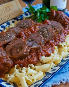 Grandma Gennaco's Beef Braciole by A Family Feast - A 100+ year old classic Italian family recipe!  The beef is so tender and flavorful!