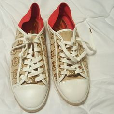 Authentic Michael Kors Shoes TODAY ONLY These are very unique in great condition Michael Kors Shoes Sneakers