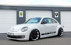 This visually and aurally impressive VW Beetle project car is the result of co-operation between styling specialists KBR Motorsport and in-car Volkswagen Beetle 2015, Volkswagen Models, Beatles, Gti Car, Volkswagon Van, Exotic Sports Cars, Vw Cars, Modified Cars, Sportbikes