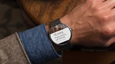 It's time for round Moto 360 #smartwatch and #LG G Watch powered by #Android Wear platform.