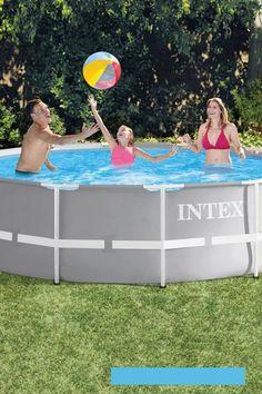 Piscine tubulaire Intex 3,66 x 1,22 : une piscine hors sol ronde Intex idéale pour tous les jardins. #piscine #tubulaire #intex Toy Chest, Storage Chest, Gardens, Plunge Pool, Lighthouse
