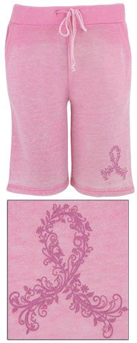 Pink Ribbon Burn Out Board Shorts at The Breast Cancer Site