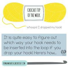 Crochet Tip - Dropped Your Hook @Oombawkadesign