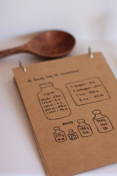 hand drawn blank recipe cards. emiko davies.