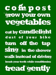 Sustainable Living......
