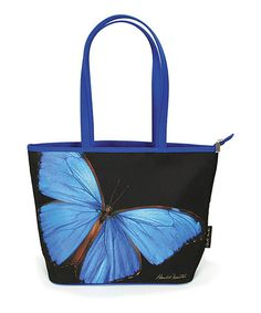 Look at this #zulilyfind! Blue Butterfly Tote by Passion for Fashion #zulilyfinds