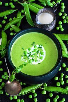 green peas cream soup