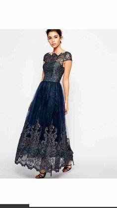 48acd94e4065 Asos Bride Groom Dress, Bride Gowns, Metallic Lace, Blue Lace, Navy Blue