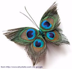 Peacock feather butterfly - embellishment for art journals?