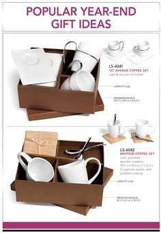 These two coffee sets have been a hit for two years. This year, we have over 10000 sets in stock so as to avoid disappointing you by running out of stock. LS-6041 – 1ST Avenue Coffee Set R69.99 excl VAT LS-6042 – Mayfair Set R72.50 excl VAT Please contact one of our friendly branding specialists to discuss your branding needs. Minimum order quantity applies.