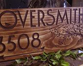 Custom Wooden Address Sign Carved Address Plaque House Number Sign Custom Signs Personalized Bridesmaid Groom Presents Cabin Nature