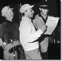 Frank and Elvis rehearsing at the Fontainebleau for the ABC TV Special 'The Frank Sinatra Timex Special' - March 1960