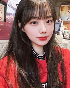 Pretty Korean Girls, Korean Beauty Girls, Cute Korean Girl, Asian Girl, Pelo Ulzzang, Ulzzang Hair, Ulzzang Korean Girl, Korean Bangs Hairstyle, Hairstyles With Bangs