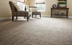Carpet patterns add visual interest and can give the room a more contemporary feel.