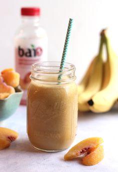 Smoothie Recipe: Peach Protein Smoothie #vegan #healthy #plantbased #whatveganseat #recipes #glutenfree #smoothie