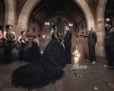 Couture Gothic Wedding Dress by WeddingDressFantasy.com