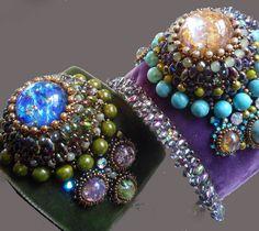 Darling Make Alphabet Friendship Bracelets Ideas. Wonderful Make Alphabet Friendship Bracelets Ideas. Bead Embroidered Bracelet, Embroidery Bracelets, Beaded Cuff Bracelet, Bead Embroidery Jewelry, Beaded Embroidery, Embroidery Patterns, Beaded Jewelry Designs, Bracelet Designs, Bead Art