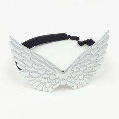 6e156ea0b18eb Atsuyo et Akiko Pegasus Headband - Silver  Black