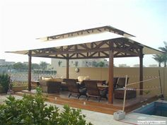 Outdoor Canvas Gazebo | Bali Gazebo | Bali Bale Canvas Gazebos, Shingle roof for Export