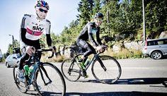 KJØRTE VIDERE: Edvald og Lars Petter fortsatte intervalløkten etter den relativt enkle utfordringen i går. Foto: Thomas Rasmus Skaug  / Dagbladet
