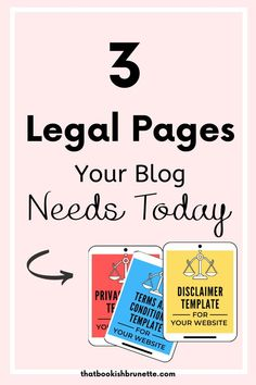 Are you blogging legally? Do you know the three must-have legal pages you need on your blog or website? Learn how to protect yourself and your blog or online business. There are three legal pages you must have on your website. Learn about them here. #blogging #blogger #blogginglegally #legaltemplates #howtostartablog Online Business, Legal Business, Thing 1, Email Marketing, Content Marketing, How To Protect Yourself, Blogging For Beginners, Make Money Blogging, Blog Tips