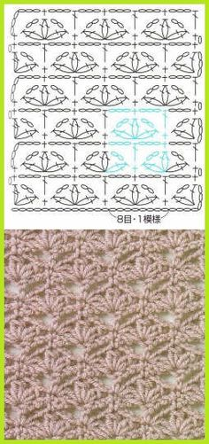ooo, try flower leaf effect in green and colors, make double v stitch under 3 2dccl