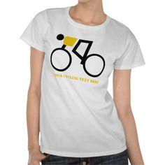 Cyclist riding his bicycle custom tshirts