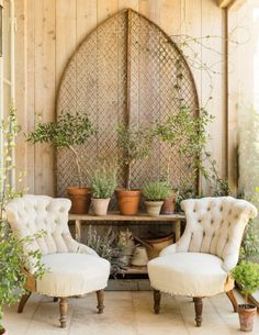 French Farmhouse Inspiration: Patina Farm French Country Porch + French Country Farmhouse Decorating - Home Stories A to Z Always wanted to learn to knit, nonethe. French Country Porch, French Country Living Room, Country Farmhouse Decor, French Country Style, Vintage Farmhouse, Farmhouse Design, Country Porches, Farmhouse Front, Rustic French