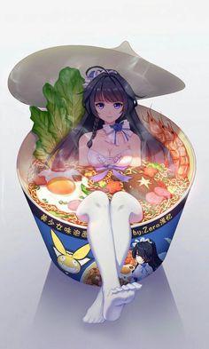Craving some ramen now & Manga Anime Sexy, Anime Girl Hot, Kawaii Anime Girl, I Love Anime, Anime Art Girl, Anime Girls, Manga Anime, Manga Art, Otaku