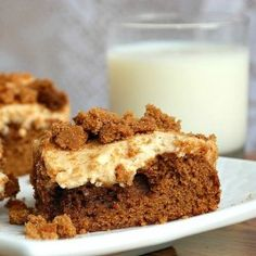 Gingerbread Cheesecake Cookie Bars