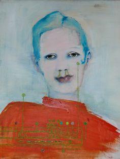 """Akryl, 50 x 60, """"Magrethe"""""""