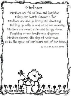 A Great Poem To Use For A Motheru0027s Day Card Or Craft.