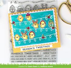 Lawn Fawn Blog, Simon Says Stamp Blog, Lawn Fawn Stamps, Window Cards, Shaker Cards, Little Birds, Scrapbook Cards, Scrapbooking, Merry And Bright
