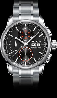 Chronograph with stainless steel bracelet | Union Glashütte
