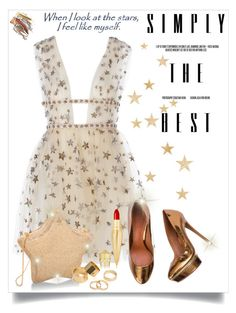 """""""We all are Stars...."""" by christinacastro830 ❤ liked on Polyvore featuring moda, Pieces i Christian Louboutin"""