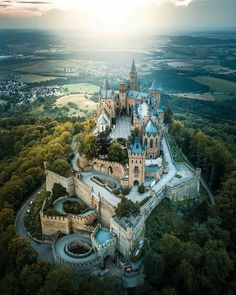 Hohenzollern castle, germany by on IG. Summer Nature Photography, Travel Photography, Photography Sky, Beautiful Castles, Beautiful Places, Beaux Arts Architecture, Places To Travel, Places To See, Travel Destinations