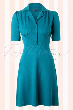 King Louie - 40s Milano Diner Dress in Legion Blue