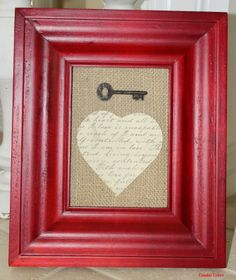Coastal-Colors The Key To My Heart, Valentine's Day Craft