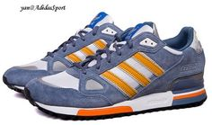 huge selection of 31fa0 8c517 Zapatillas Running Adidas Originals ZX 750 para Hombre Gris-Azul Naranja Blanco  Online Venta