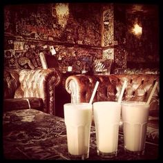 The Hill Street Blues cafe, Amsterdam. Milkshakes and cakes to get thoroughly baked. It's a tough break.