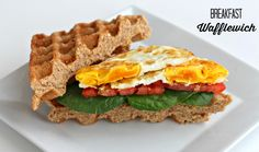 Meatless Monday: Breakfast Wafflewich + Nicole's Naturals Giveaway | The Fit Foodie Mama