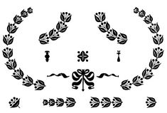 Vintage Clip Art - Cute Silhouette Frames and Doodads - The Graphics Fairy