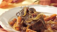Fall-off-the-bone tender, these short ribs get intense flavor from vegetables and fragrant herbs.