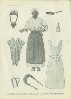 """Aunt Dinah, the Colored Cook, comes to join the Paper Doll Family""_McCall's…"
