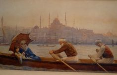 Istanbul-excursion on the golden horn by Tristam James Ellis - 1888
