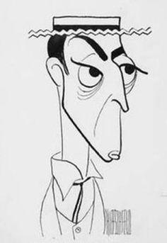 Al Hirschfeld - Buster Keaton