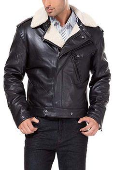 47852d17b19  Affiliate  BGSD Men s Grant New Zealand Lambskin Leather Motorcycle Jacket-  Black XL