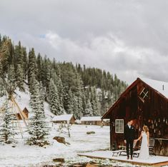 love this gorgeous and snowy Colorado elopement shot by Benj Haisch